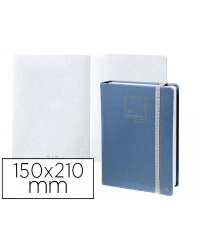 Libreta quo vadis life journal infinite dots puntos 15x21 cm 224 hojas tapa similpiel azul