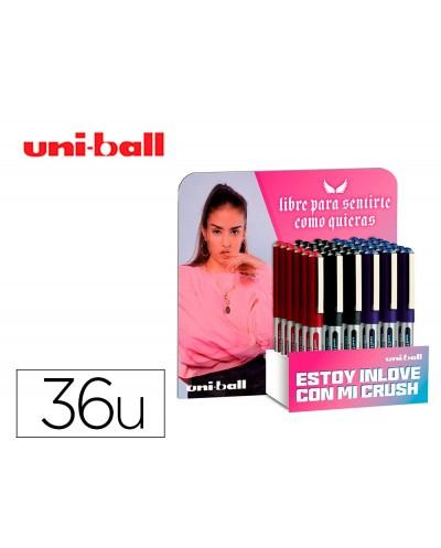 Rotulador uni ball roller ub 150 micro eye tinta liquida 05 mm expositor de 36 unidades colores surtidos