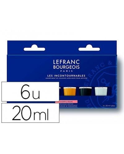 Pintura acrilica lb fine set los imprescindibles caja de 6 colores surtidos tubo de 20 ml
