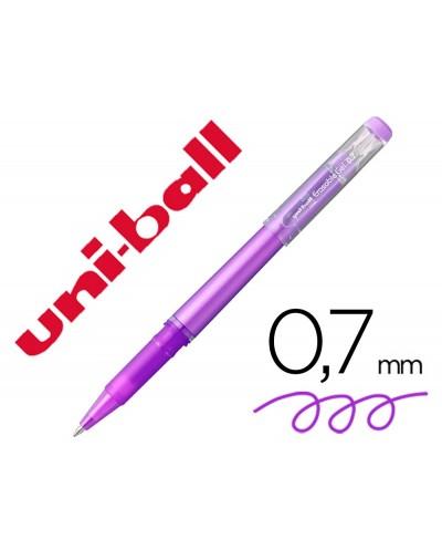 Rotulador uni ball roller uf 222 tinta gel borrable 07 mm violeta