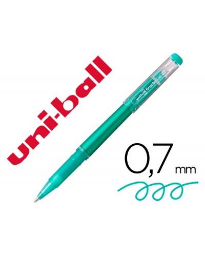 Rotulador uni ball roller uf 222 tinta gel borrable 07 mm verde