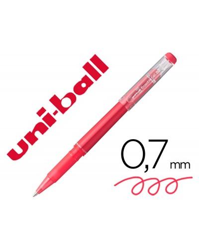 Rotulador uni ball roller uf 222 tinta gel borrable 07 mm rojo