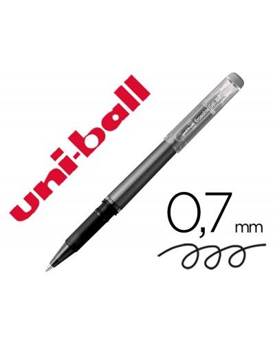 Rotulador uni ball roller uf 222 tinta gel borrable 07 mm negro