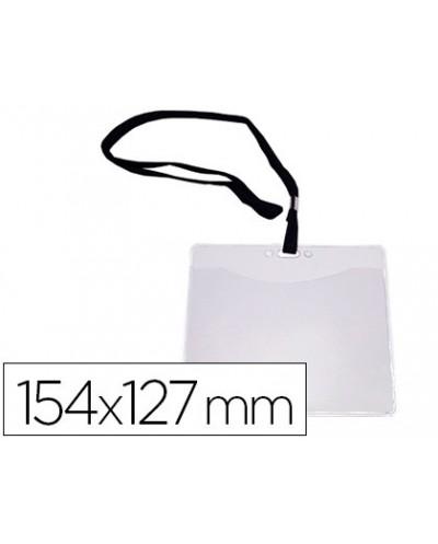 Identificador q connect con cordon plano negro a6 154x127 mm apertura superior