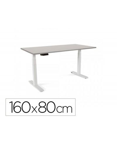 Mesa oficina rocada serie work 160x80 cm acabado ab02 aluminio gris
