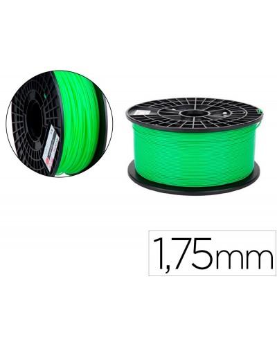Filamento 3d colido pla luminoso 175 mm 1 kg verde