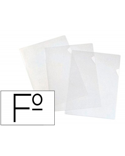 Carpeta dossier unero elba standard folio plastico 140 mc cristal caja de 100 unidades