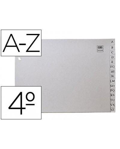 Separador alfabetico elba plastico 120 mc cuarto 2 taladros a z gris