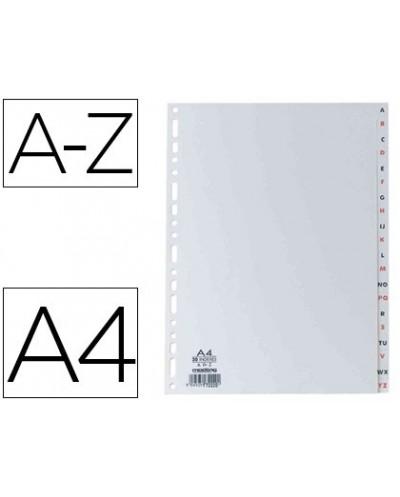 Separador alfabetico elba plastico 120 mc din a4 11 taladros a z gris