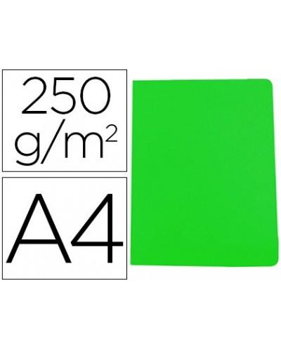 Subcarpeta cartulina gio simple intenso din a4 verde 250g m2