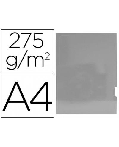 Subcarpeta cartulina gio plastificada presentacion 2 solapas din a4 plata 275g m2