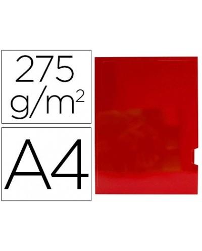 Subcarpeta cartulina gio plastificada presentacion 2 solapas din a4 rojo 275g m2