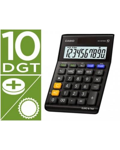 Calculadora casio ms 100terii bk sobremesa 10 digitos tax tecla doble cero color negro