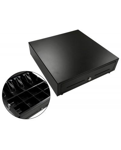 Cajon portamonedas negro 410x415x110 8 monederos 5 billeteros apertura electrica
