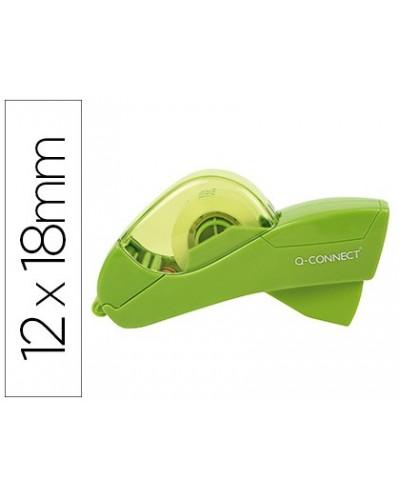 Portarrollo q connect automatico plastico verde para cintas de 12 y 19 mm incluye 2 cintas