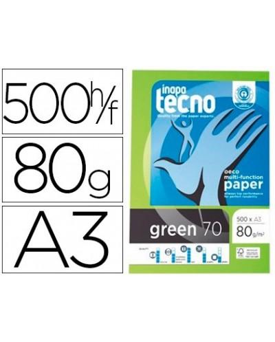Papel fotocopiadora tecno green 100 reciclado din a3 80 gramos paquete de 500 hojas