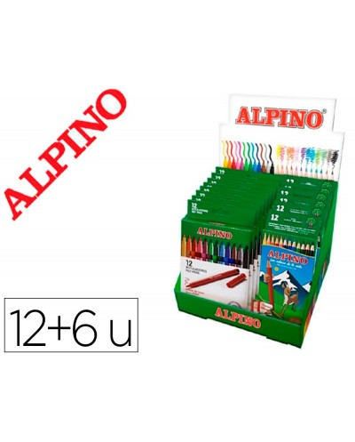 Rotulador alpino standard caja de 12 colores expositor de 12 unidades 6 cajas lapices de colores alpino 654