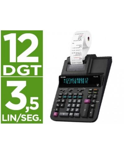 Calculadora casio impresora pantalla digitron papel 58 mm impresion bicolor fr 620re 12 digitos dc color negro