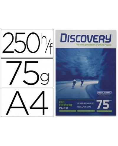 Papel fotocopiadora discovery fast pack din a4 75 gramos papel multiuso ink jet y laser caja de 2500 hojas