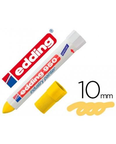 Rotulador edding permanente 950 pasta opaca amarilla punta redonda 10 mm para superficies oxidadas o