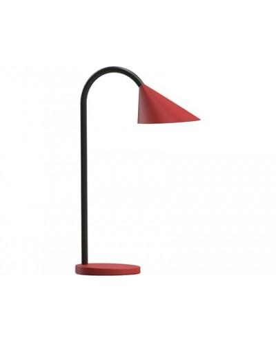 Lampara de escritorio unilux sol led 4w brazo flexible abs y metal rojo base 14 cm diametro