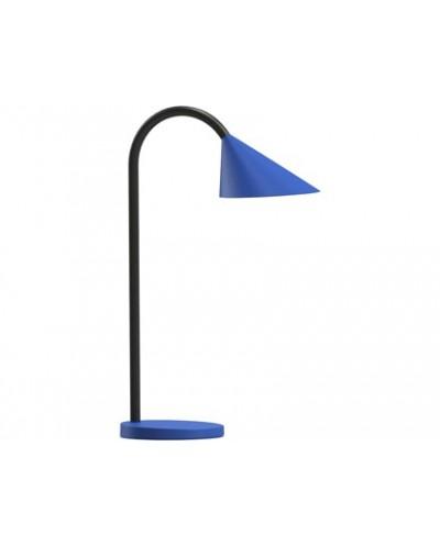 Lampara de escritorio unilux sol led 4w brazo flexible abs y metal azul base 14 cm diametro