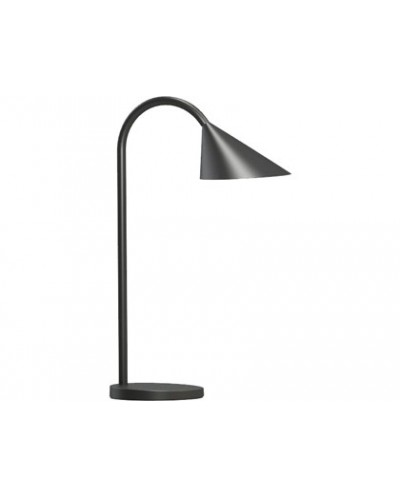 Lampara de escritorio unilux sol led 4w brazo flexible abs y metal negro base 14 cm diametro