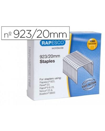Grapas rapesco galvanizada 923 20 caja de 1000 unidades