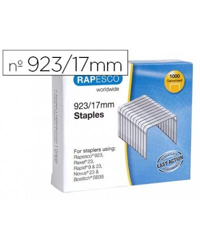 Grapas rapesco galvanizada 923 17 caja de 1000 unidades