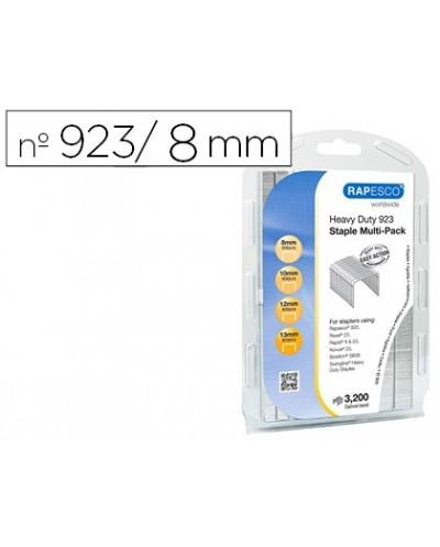 Grapas rapesco galvanizadas 923 8 10 12 13 mm blister de 3200 unidades