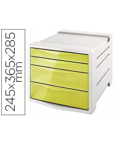 Fichero cajones de sobremesa esselte colour ice plastico 4 cajones color amarillo 245x365x285 mm