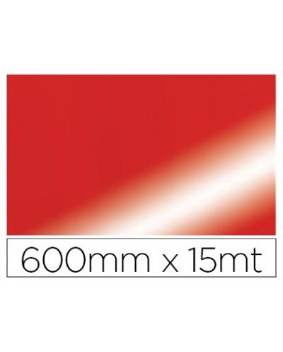 Papel fantasia colibri doble metalizado rojo bobina 600 mm x 15 mt