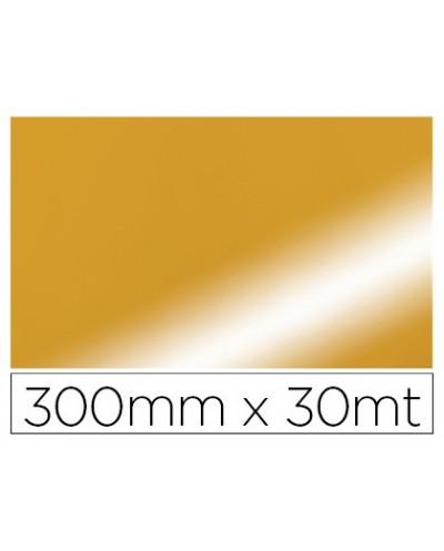 Papel fantasia colibri simple metalizado oro bobina 300 mm x 30 mt