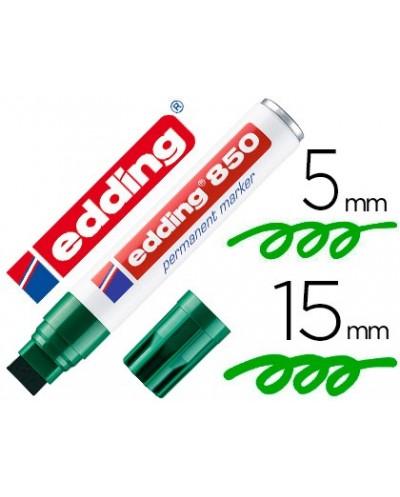 Rotulador edding marcador permanente 850 verde punta biselada 5 15 mm recargable