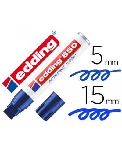 Rotulador edding marcador permanente 850 azul punta biselada 5 15 mm recargable
