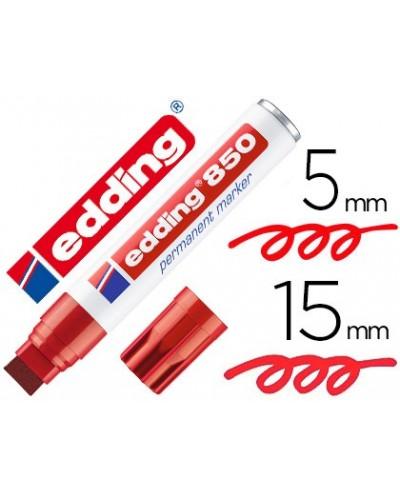 Rotulador edding marcador permanente 850 rojo punta biselada 5 15 mm recargable