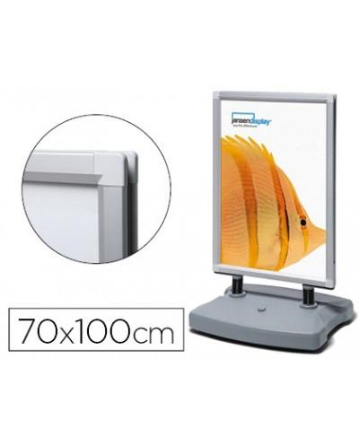 Caballete jansen display involcable para exterior doble cara marco aluminio 70x100 cm