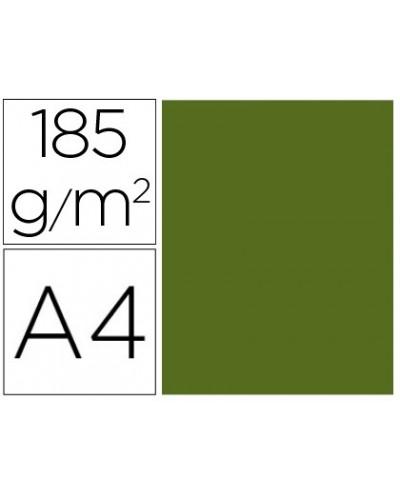 Cartulina guarro din a4 verde safari 185 gr paquete de 50 h