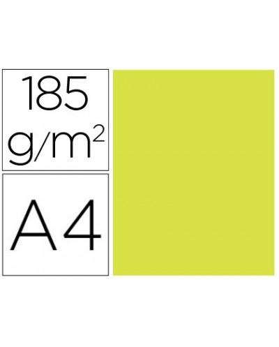 Cartulina guarro din a4 kiwi 185 gr paquete de 50 h