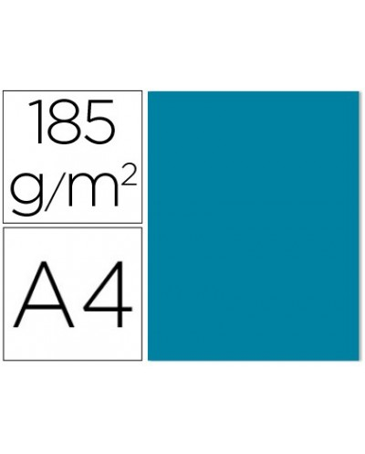 Cartulina guarro din a4 azul caribe 185 gr paquete de 50 h