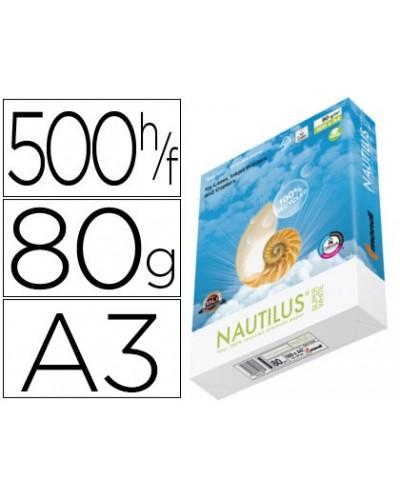 Papel fotocopiadora nautilus superwhite 100 reciclado din a3 80 gramos paquete de 500 hojas