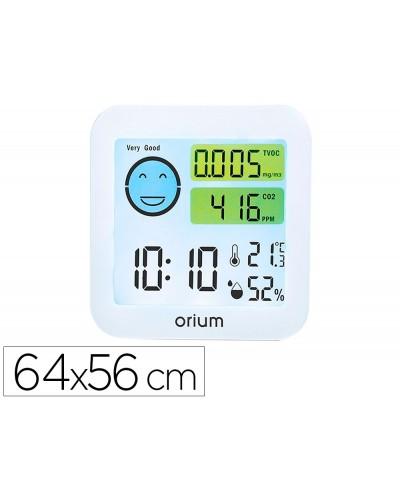 Medidor de aire orium quaelis 20 medidor de c02 y cov superficie 30 m2 pantalla lcd color blanco 64x56 mm