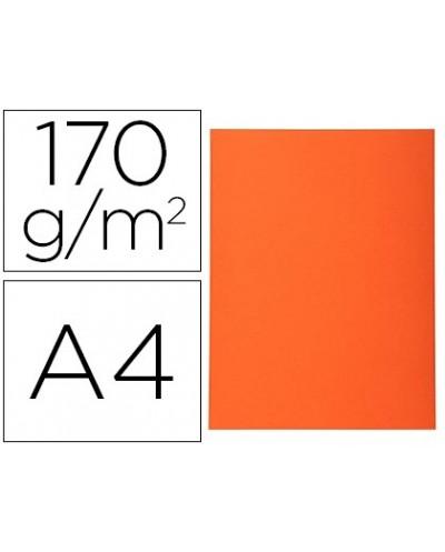 Subcarpeta cartulina reciclada exacompta din a4 naranja 170 gr