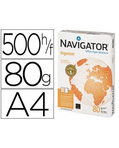 Papel fotocopiadora navigator din a4 80 gramos 2 taladros papel multiuso ink jet y laser paquete de 500 hojas