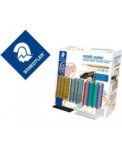 Rotulador staedtler metalico 8323 expositor sobremesa de 100 unidades colores surtidos