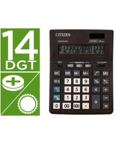Calculadora citizen sobremesa business line eco eficiente solar y pilas 14 digitos 200x157x35 mm