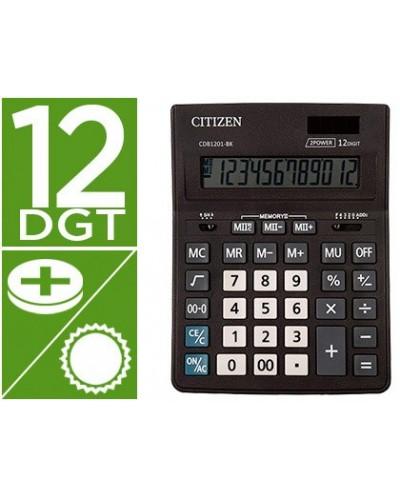 Calculadora citizen sobremesa business line eco eficiente solar y pilas 12 digitos 200x157x35 mm