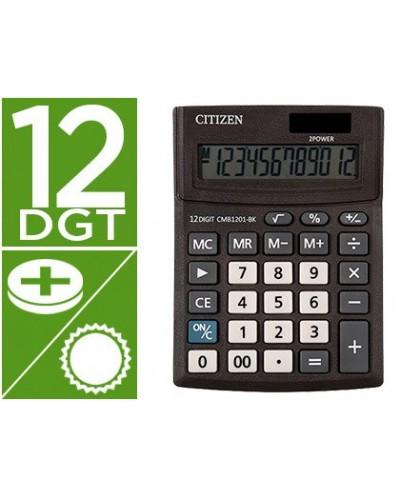 Calculadora citizen sobremesa business line eco eficiente solar y pilas 12 digitos 136x100x32 mm