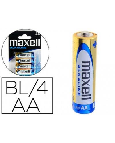 Pila maxell alcalina 15 v tipo aa lr06 blister de 4 unidades