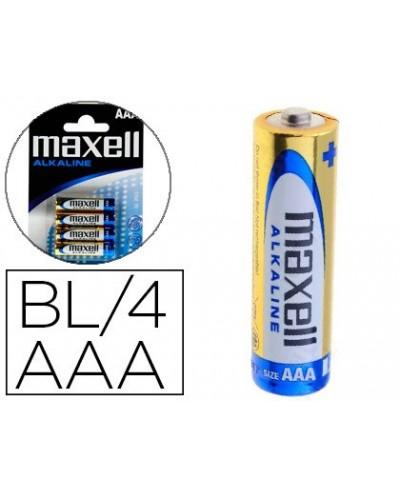 Pila maxell alcalina 15 v tipo aaa lr03 blister de 4 unidades